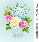 beautiful spring bouquet with... | Shutterstock .eps vector #1275922462