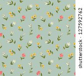 seamless floral pattern with... | Shutterstock .eps vector #127592762