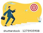 business man walking up the...   Shutterstock .eps vector #1275935908