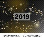 2019 christmas tinsel confetti  ... | Shutterstock .eps vector #1275940852
