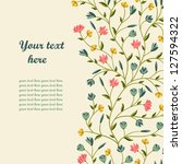 greeting floral card. place for ...   Shutterstock .eps vector #127594322