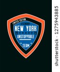 new york unstoppable team t... | Shutterstock .eps vector #1275943885