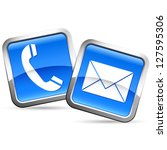 e mail and phone buttons  ... | Shutterstock .eps vector #127595306