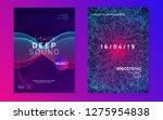 neon flyer. trendy discotheque... | Shutterstock .eps vector #1275954838