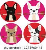 french bulldog  vectors  love ... | Shutterstock .eps vector #1275960448