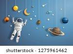 paper art style of astronaut in ... | Shutterstock .eps vector #1275961462