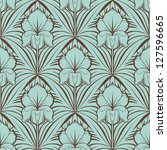 seamless floral pattern | Shutterstock .eps vector #127596665