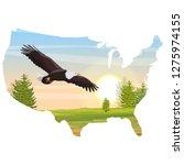 usa map. the big bald eagle... | Shutterstock .eps vector #1275974155