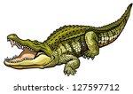 nile crocodile crocodylus... | Shutterstock .eps vector #127597712