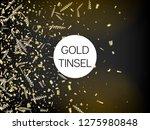 modern christmas tinsel... | Shutterstock .eps vector #1275980848