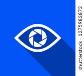 shutter eye icon with shadow  ... | Shutterstock .eps vector #1275983872