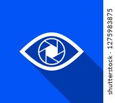 shutter eye icon with shadow  ... | Shutterstock .eps vector #1275983875