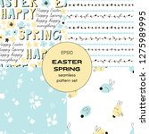 easter spring vector seamless... | Shutterstock .eps vector #1275989995