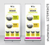 roll up banner design template  ... | Shutterstock .eps vector #1275993475