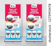roll up banner design template  ... | Shutterstock .eps vector #1275993478