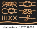 marine ropes. cord twisted... | Shutterstock .eps vector #1275998635