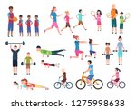 family playing sports. people... | Shutterstock .eps vector #1275998638