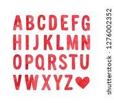 english alphabet capital letter ... | Shutterstock . vector #1276002352