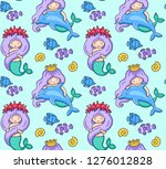 seamless colorful pattern with... | Shutterstock .eps vector #1276012828