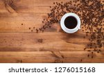 cup of black morning coffee and ... | Shutterstock . vector #1276015168