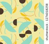 halftone color texture... | Shutterstock . vector #1276018258