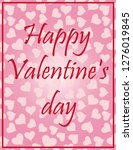 valentine's day greeting card... | Shutterstock .eps vector #1276019845