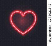 vector neon heart  bright red... | Shutterstock .eps vector #1276021942