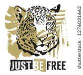 just be free t shirt design.... | Shutterstock .eps vector #1276031662