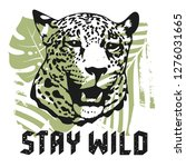 stay wild vintage t shirt... | Shutterstock .eps vector #1276031665