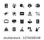 vector illustration of 20 icons.... | Shutterstock .eps vector #1276038148