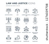 16 linear law and justice icons ... | Shutterstock .eps vector #1276039708