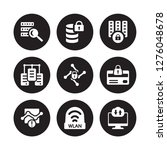 9 vector icon set   data search ... | Shutterstock .eps vector #1276048678