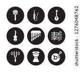 9 vector icon set   cabasa ... | Shutterstock .eps vector #1276048762