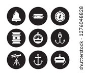 9 Vector Icon Set   Boat Bell ...