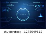 abstract technology ui... | Shutterstock .eps vector #1276049812