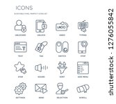 16 linear  icons such as...   Shutterstock .eps vector #1276055842