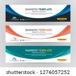 abstract web banner design... | Shutterstock .eps vector #1276057252