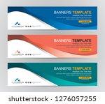 abstract web banner design... | Shutterstock .eps vector #1276057255