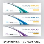 abstract web banner design... | Shutterstock .eps vector #1276057282