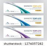 abstract web banner design... | Shutterstock .eps vector #1276057282