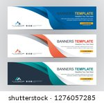 abstract web banner design... | Shutterstock .eps vector #1276057285