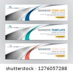 abstract web banner design... | Shutterstock .eps vector #1276057288