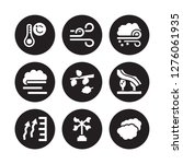 9 vector icon set   celsius ... | Shutterstock .eps vector #1276061935