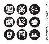9 vector icon set   strategy in ... | Shutterstock .eps vector #1276062115