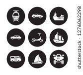 9 vector icon set   subway ... | Shutterstock .eps vector #1276062298