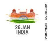 illustration of 26 january... | Shutterstock .eps vector #1276062385