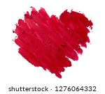 lipstick smudge or red color...   Shutterstock . vector #1276064332