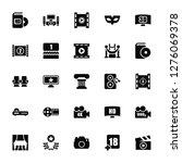 vector illustration of 25 icons.... | Shutterstock .eps vector #1276069378