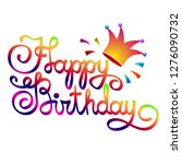 happy birthday lettering... | Shutterstock .eps vector #1276090732