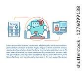 job interview concept linear... | Shutterstock .eps vector #1276099138